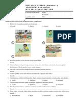 Soal Penilaian Harian Kelas 5 Semester 1 Tema. 1 Muatan Sbdp