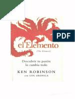 Libro- El Elemento (Keneth Robinson)