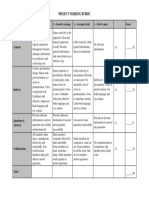 Project Marking Rubric