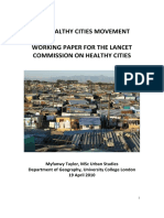 Working Paper - Healthy Cities Movement