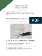 Plan Contable Empresarial 2012