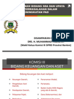 Dinas PU Pak Faizal Air Permukaan Komisi III DPRD Banten