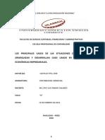 Los Principales Casos de Las Situaciones de Decisión, Jerarquizan y Desarrollan Caso Usado en Situaciones Económicas Empresariales.