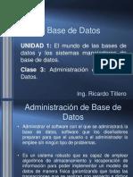 Clase 3 Base de Datos