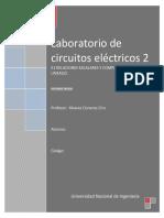 Relaciones Escalares y Complejas en Circuitos Electricos Lineales