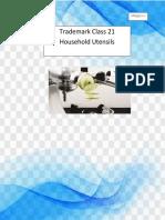 Trademark Class 21 Household Utensils