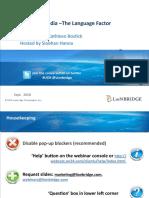 Global Social Media-The Language Factor