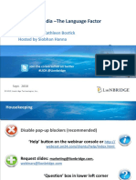 Global Social Media-The Language Factor