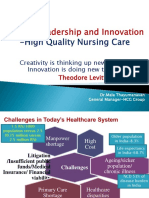 Leadership and Innovation-High Quality Nursing Care