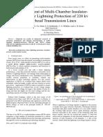 Development of Multi-chamber Insulator-Arresters for Lightning Protection of 220 KV Overhead Transmission Lines