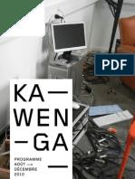 Kawenga / programme 2nd semestre 2010