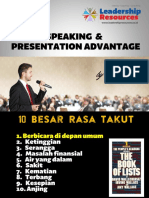 Public Speaking & Presentation Advantage by Coach Eval - Leadership Resources Indonesia