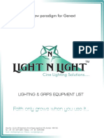 LightNLight Equipment List