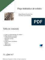 Flujo Hidráulico de Solidos