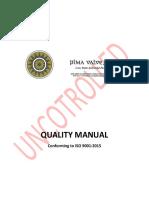 Pima Quality Manual