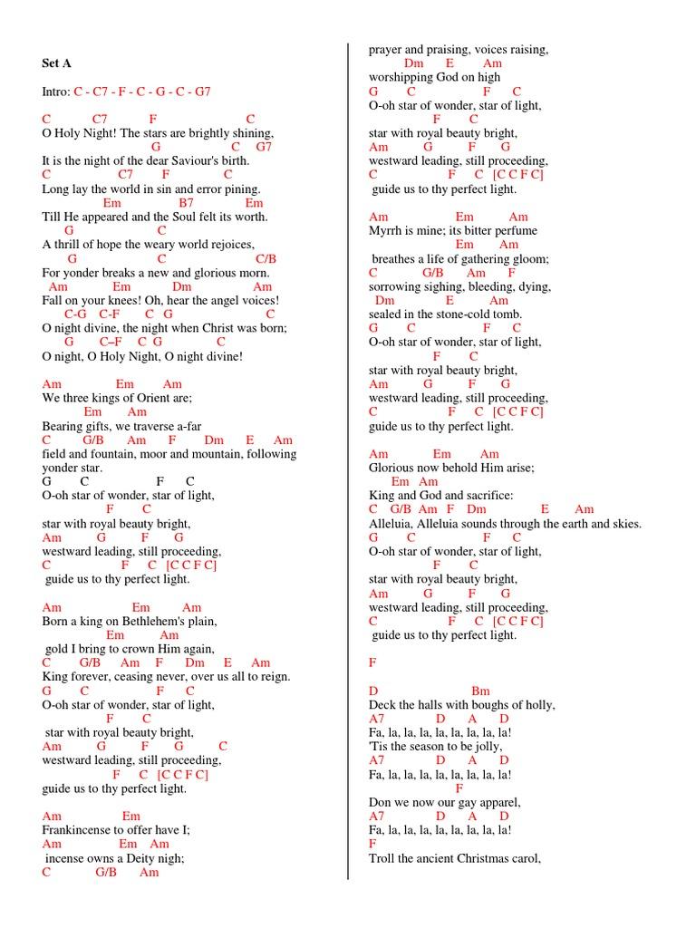 295303156 Christmas Carols Medley Guitar Chords 2cx