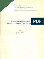 Aro 1961 Die Akkadischen Infinitivkonstruktionen