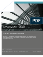 Investment Candidate Contracting Firm