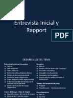 Entrevista Inicial y Rapport