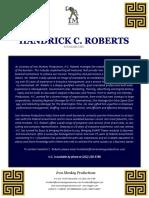 Hcroberts Biographical Pastperformance 0917