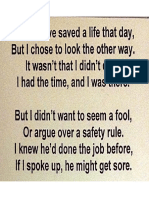 Safety Poem