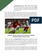 Timnas Mesir Akan Gelar Agenda Sebelum Piala Dunia 2018.