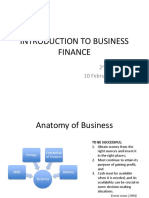 Lecture 2 Intro to Business Finance