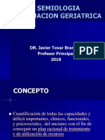 Evaluacion Geriatrica 2018 semiología