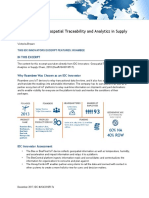 IDC Innovators - Geospatial Traceability and Analytics in Supply Chain, 2018