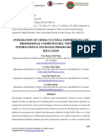 Integration of Cross-cultural Experiences and Professional Competencies Views From International Exchange Programs in Higher Education