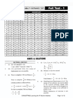 NEET Test Series 1 Solution