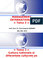 Cultura Nationala Si Diferentele Culturale Pe Plan International_2013-2014