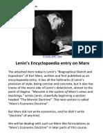 04b LENIN's MARX Encyclopaedia Entry