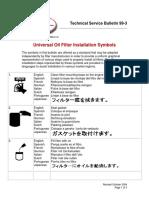 FMC-Universal Oil Filter Installation Symbols