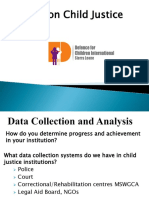 Data on Child Justice