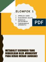 Tugas Metabolit Sekunder