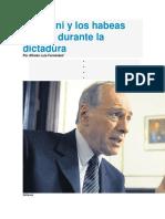 Zaffaroni y Los Habeas Corpus Durante La Dictadura