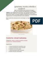 Farofa Vegetariana
