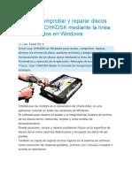 Reparar Error Chkdsk