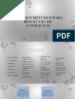 Diversos Métodos Para Resolucio de Conflictos