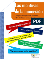 Las mentiras de la inmersión lingüística en Cataluña