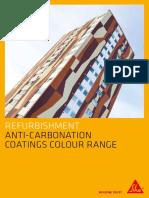 Anti Carbonation Coatings Colour Card 6pp Sgl Pg