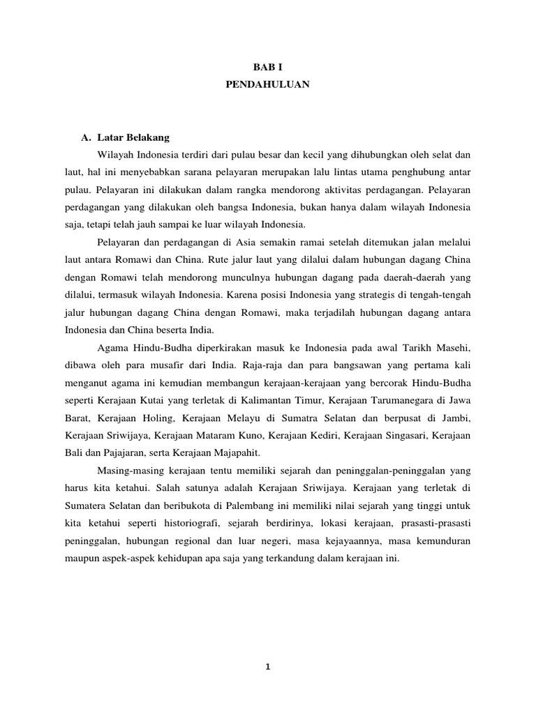 Makalah Kerajaan Sriwijaya Pada Masa Hindu Budha
