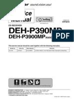 Pioneer Deh p390mp,3900mp