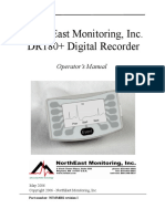 NorthEast DR-180 Digital Reccorder - User Manual