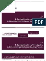 artist research