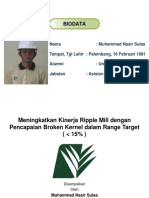 Meningkatkan Kinerja Ripple Mill Dengan Pencapaian Broken Kernel REV 1