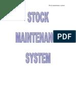 26623608 Stock Maintenance System