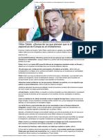 Viktor Orbán, La Ultima Esperanza de Europa Es El Cristianismo