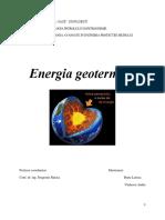 Proiect Energia Geotermala